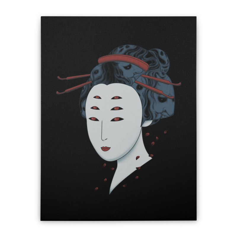 Floating with Demons Home Stretched Canvas by Pigboom's Artist Shop