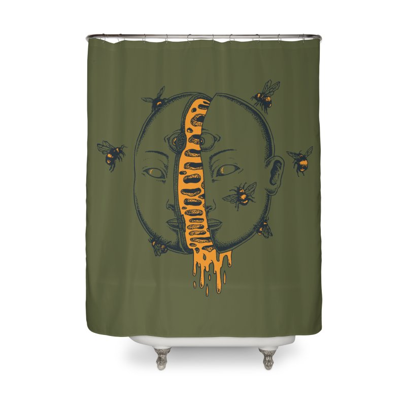Divide Home Shower Curtain by Pigboom's Artist Shop