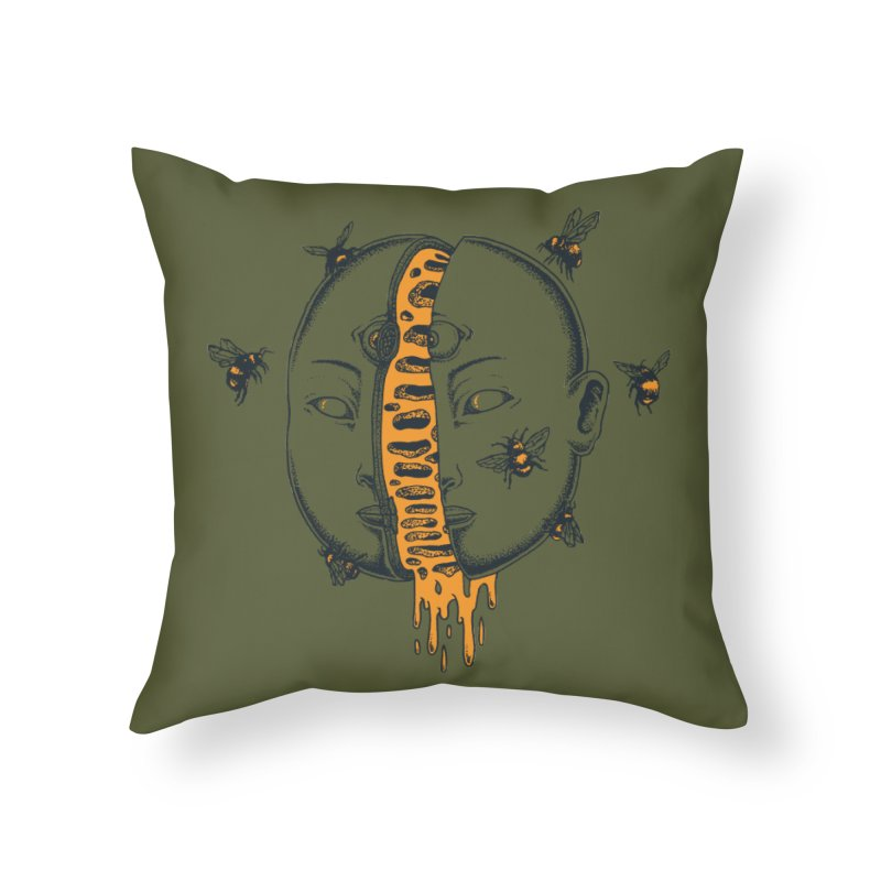 Divide Home Throw Pillow by Pigboom's Artist Shop