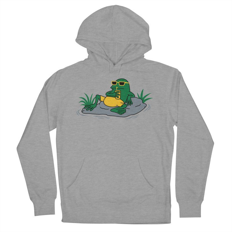 Pond Chillin Men's French Terry Pullover Hoody by Pigboom's Artist Shop