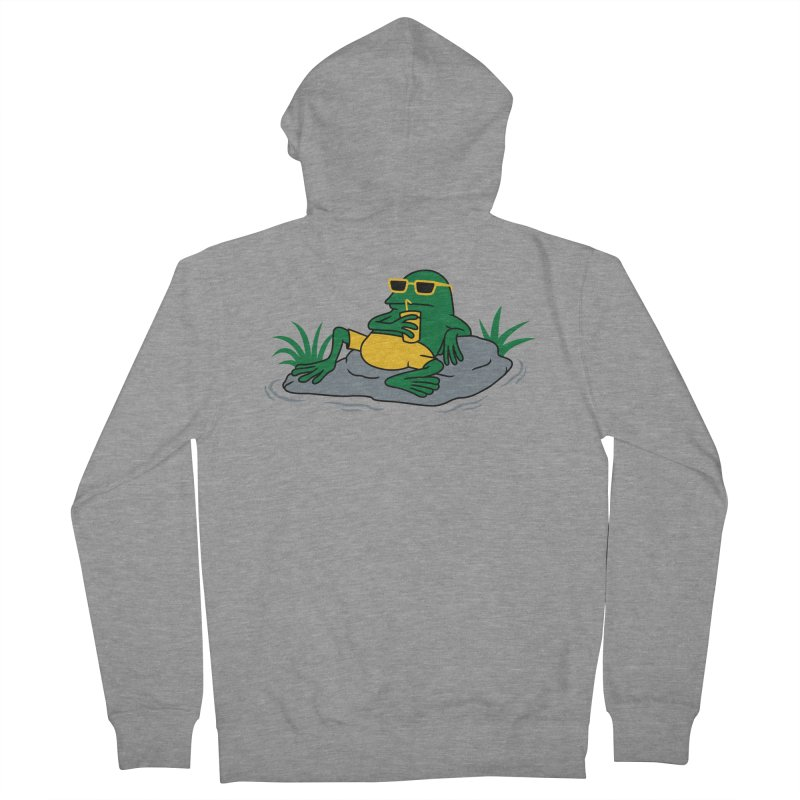 Pond Chillin Men's Zip-Up Hoody by Pigboom's Artist Shop