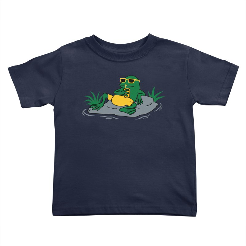 Pond Chillin Kids Toddler T-Shirt by Pigboom's Artist Shop
