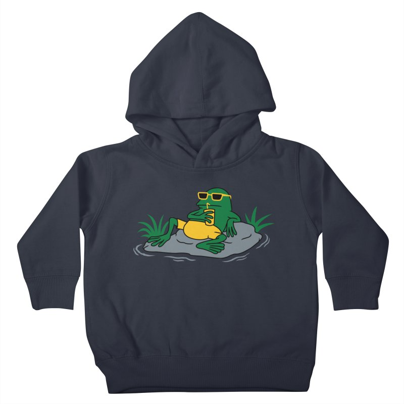 Pond Chillin Kids Toddler Pullover Hoody by Pigboom's Artist Shop