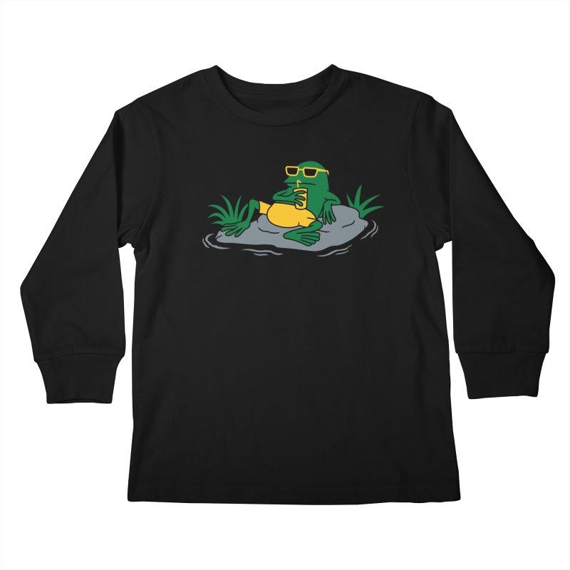Pond Chillin Kids Longsleeve T-Shirt by Pigboom's Artist Shop