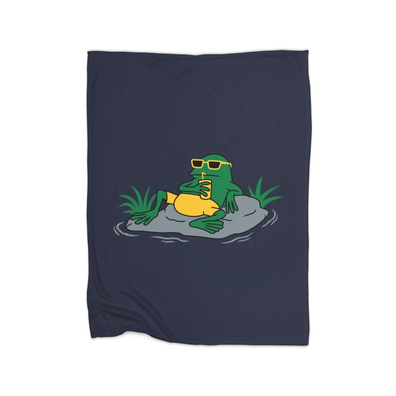Pond Chillin Home Fleece Blanket by Pigboom's Artist Shop