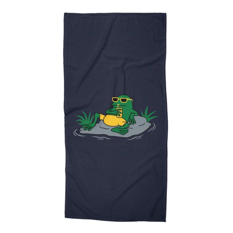 Pond Chillin Accessories Beach Towel by Pigboom's Artist Shop