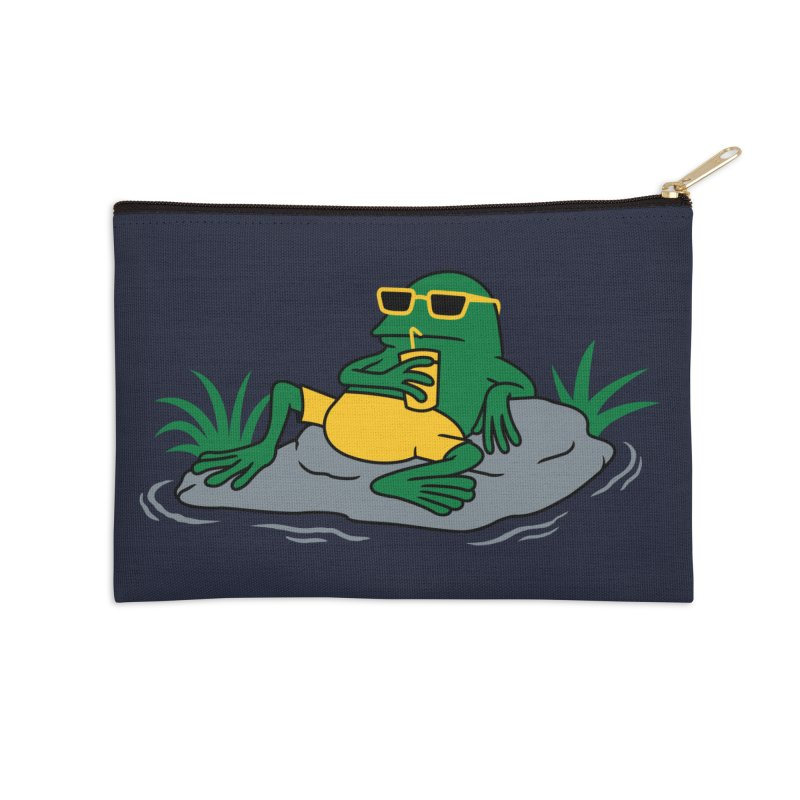 Pond Chillin Accessories Zip Pouch by Pigboom's Artist Shop