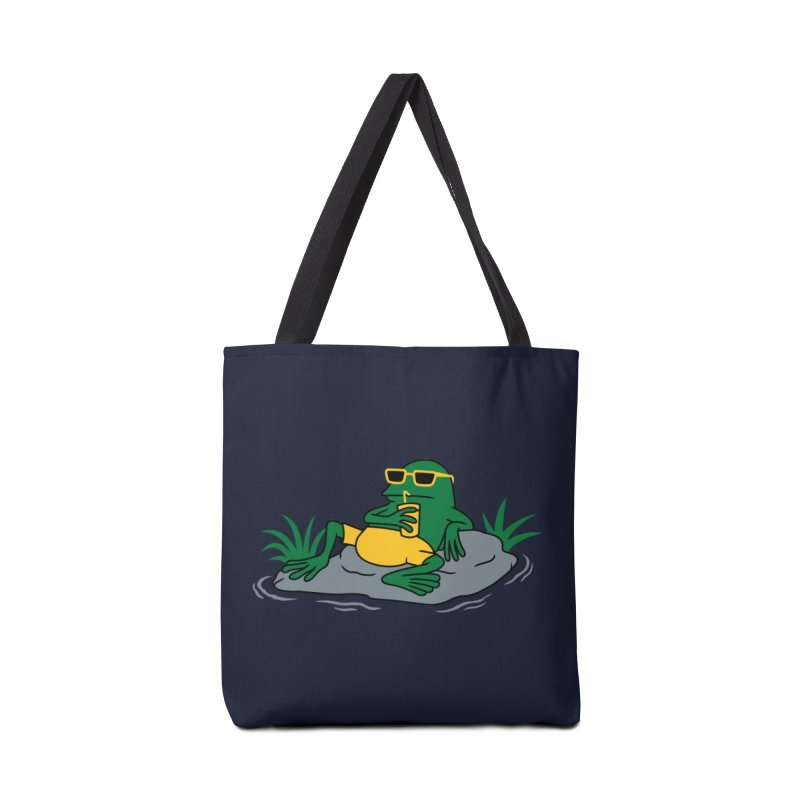 Pond Chillin Accessories Bag by Pigboom's Artist Shop