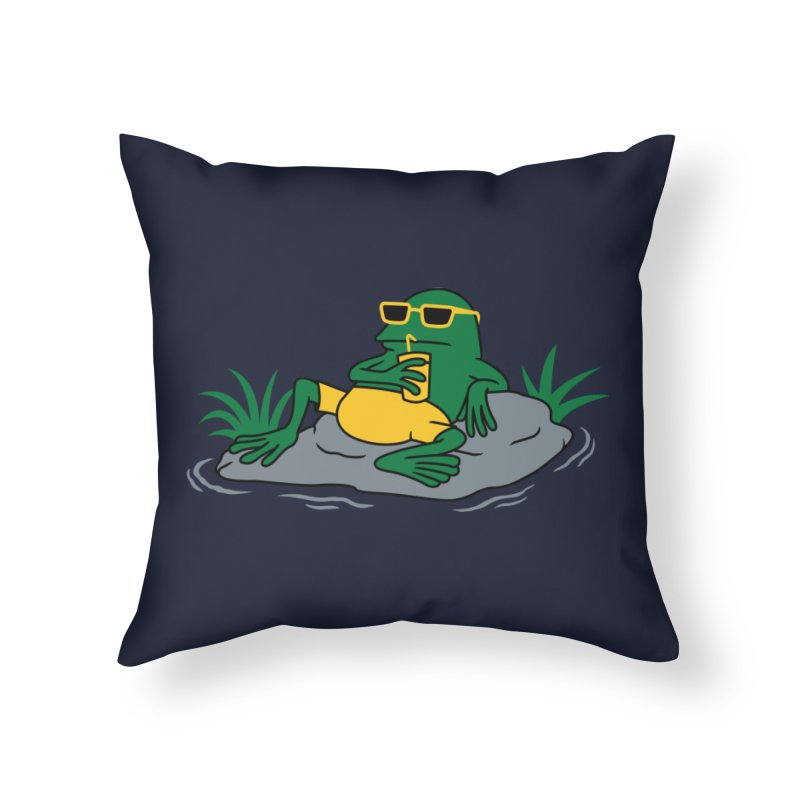 Pond Chillin Home Throw Pillow by Pigboom's Artist Shop