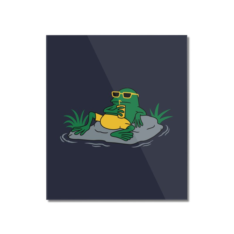 Pond Chillin Home Mounted Acrylic Print by Pigboom's Artist Shop