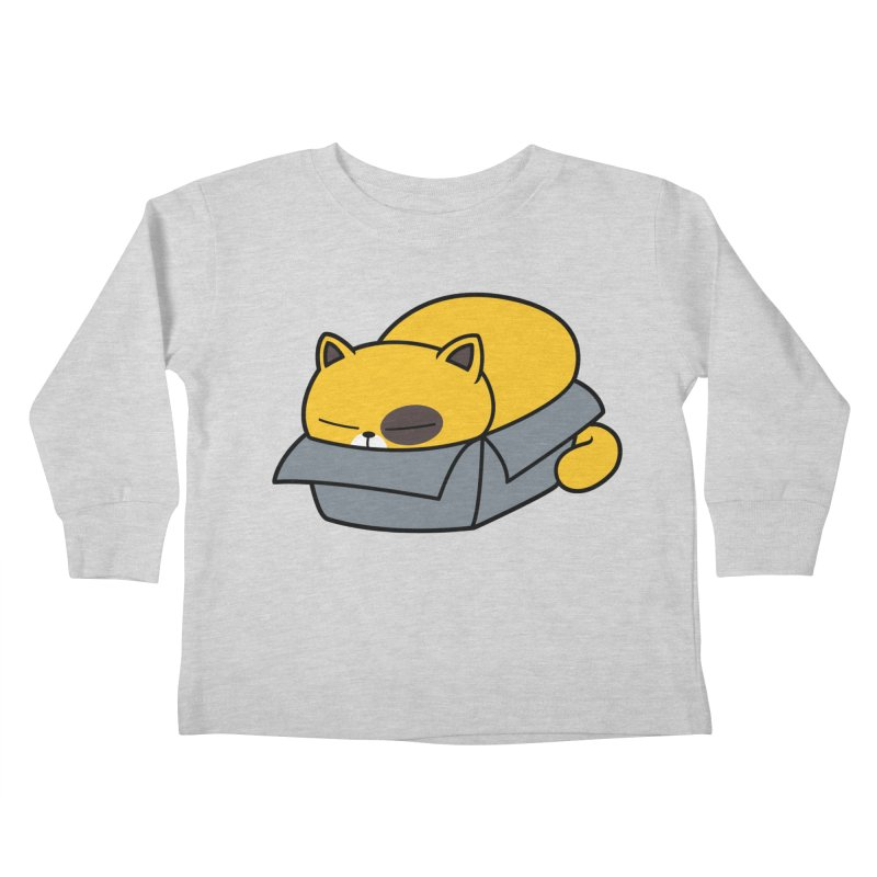Fat can Fit Kids Toddler Longsleeve T-Shirt by Pigboom's Artist Shop