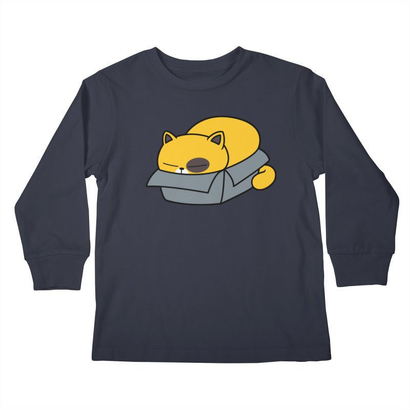Fat can Fit Kids Longsleeve T-Shirt by Pigboom's Artist Shop