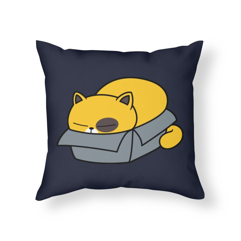 Fat can Fit Home Throw Pillow by Pigboom's Artist Shop