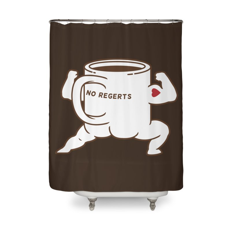 Strong Coffee Home Shower Curtain by Pigboom's Artist Shop