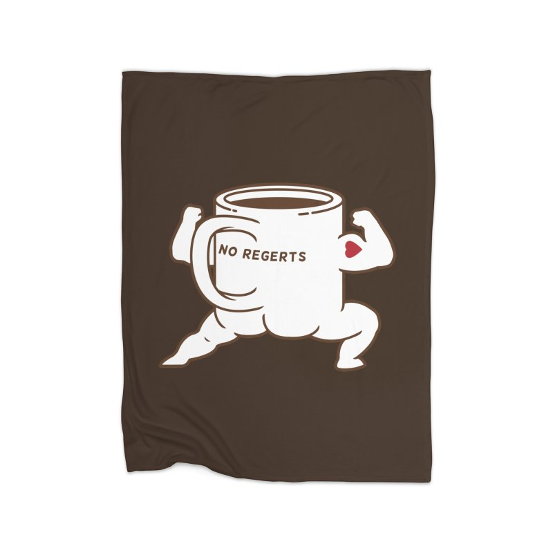 Strong Coffee Home Fleece Blanket by Pigboom's Artist Shop