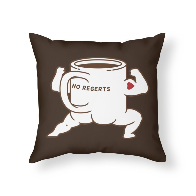 Strong Coffee Home Throw Pillow by Pigboom's Artist Shop