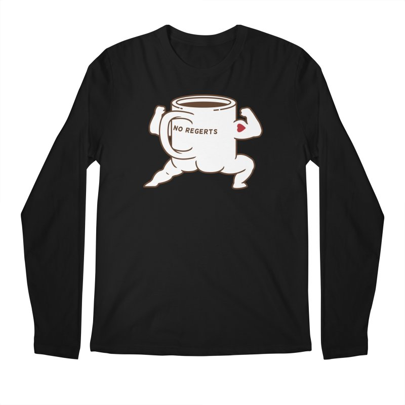 Strong Coffee Men's Longsleeve T-Shirt by Pigboom's Artist Shop