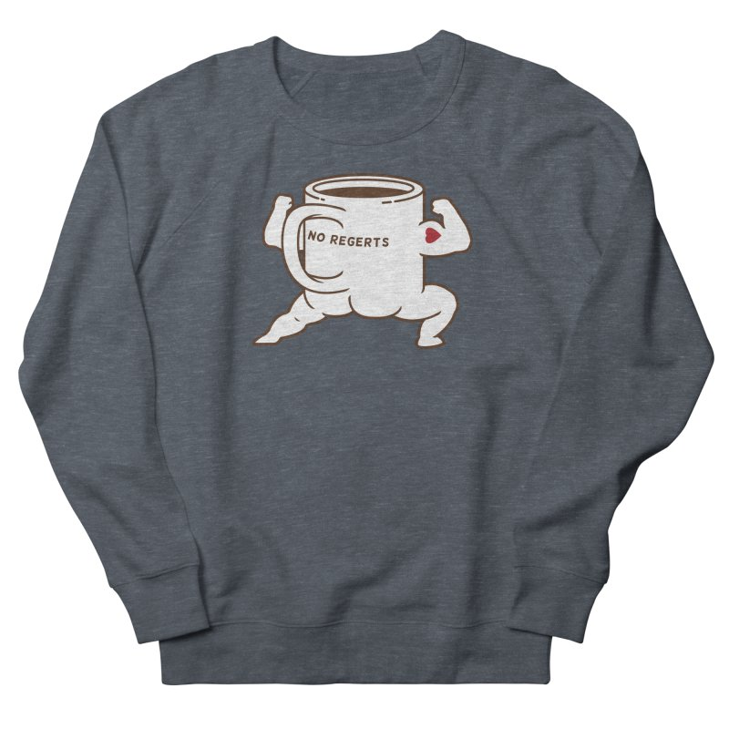 Strong Coffee Men's French Terry Sweatshirt by Pigboom's Artist Shop