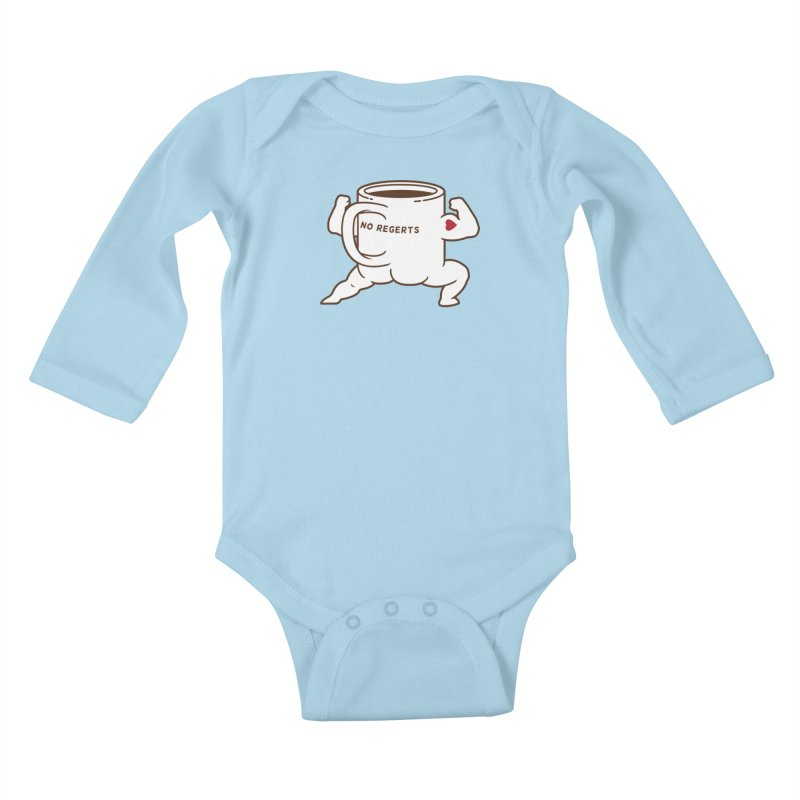 Strong Coffee Kids Baby Longsleeve Bodysuit by Pigboom's Artist Shop
