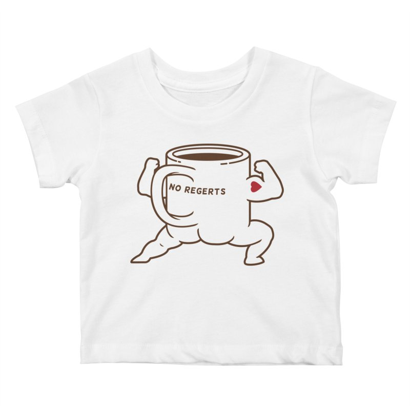 Strong Coffee Kids Baby T-Shirt by Pigboom's Artist Shop