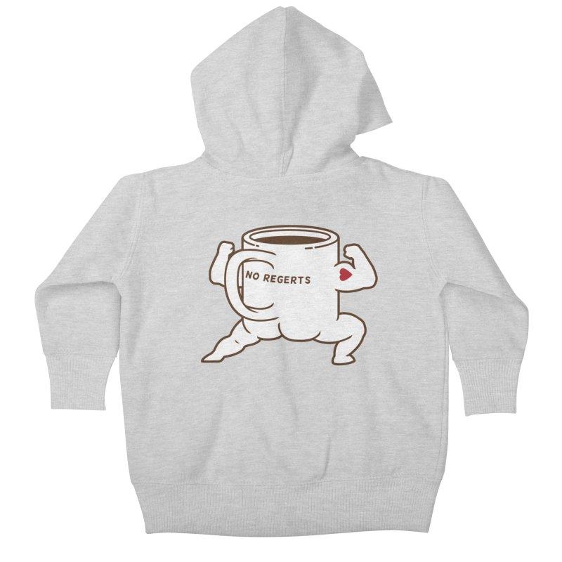 Strong Coffee Kids Baby Zip-Up Hoody by Pigboom's Artist Shop