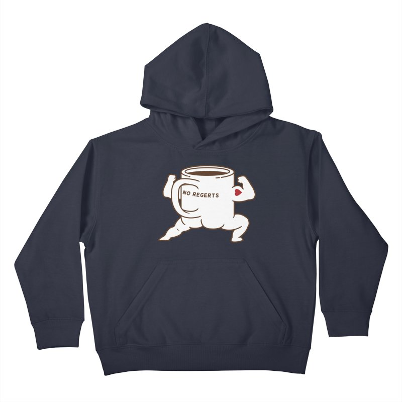 Strong Coffee Kids Pullover Hoody by Pigboom's Artist Shop