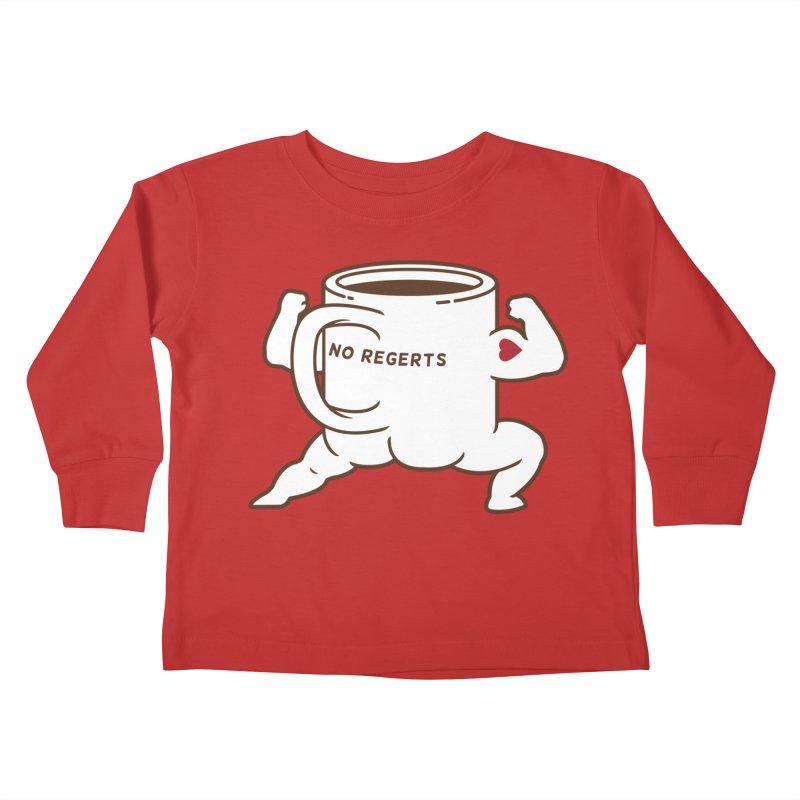 Strong Coffee Kids Toddler Longsleeve T-Shirt by Pigboom's Artist Shop
