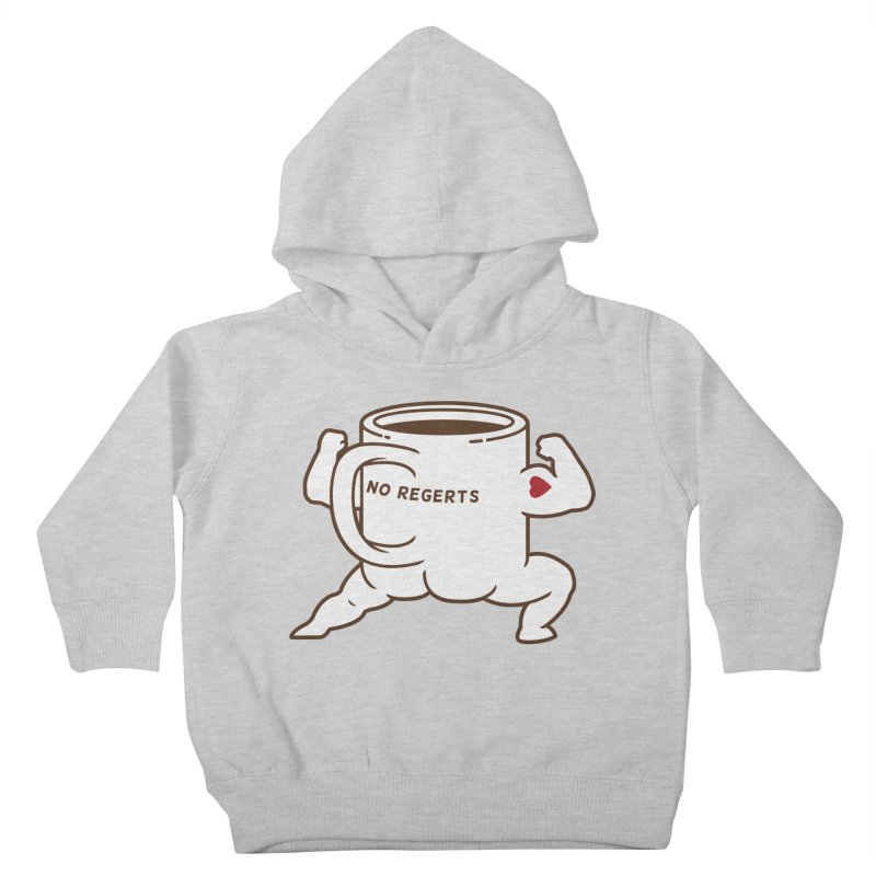 Strong Coffee Kids Toddler Pullover Hoody by Pigboom's Artist Shop