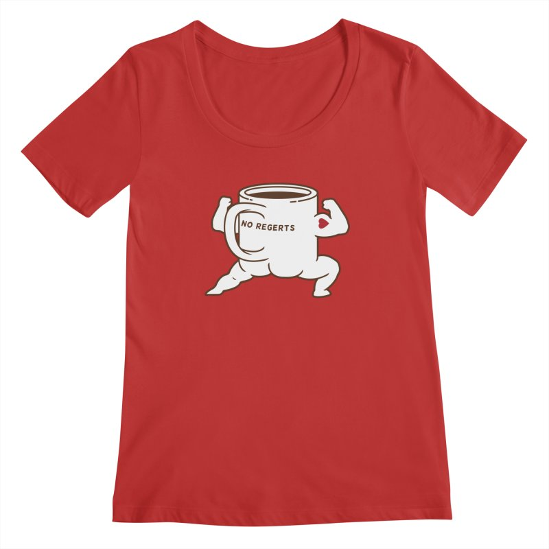 Strong Coffee Women's Scoopneck by Pigboom's Artist Shop