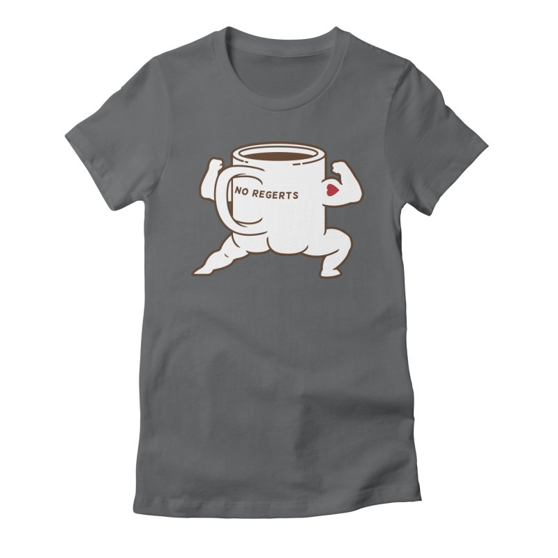 Strong Coffee Women's Fitted T-Shirt by Pigboom's Artist Shop