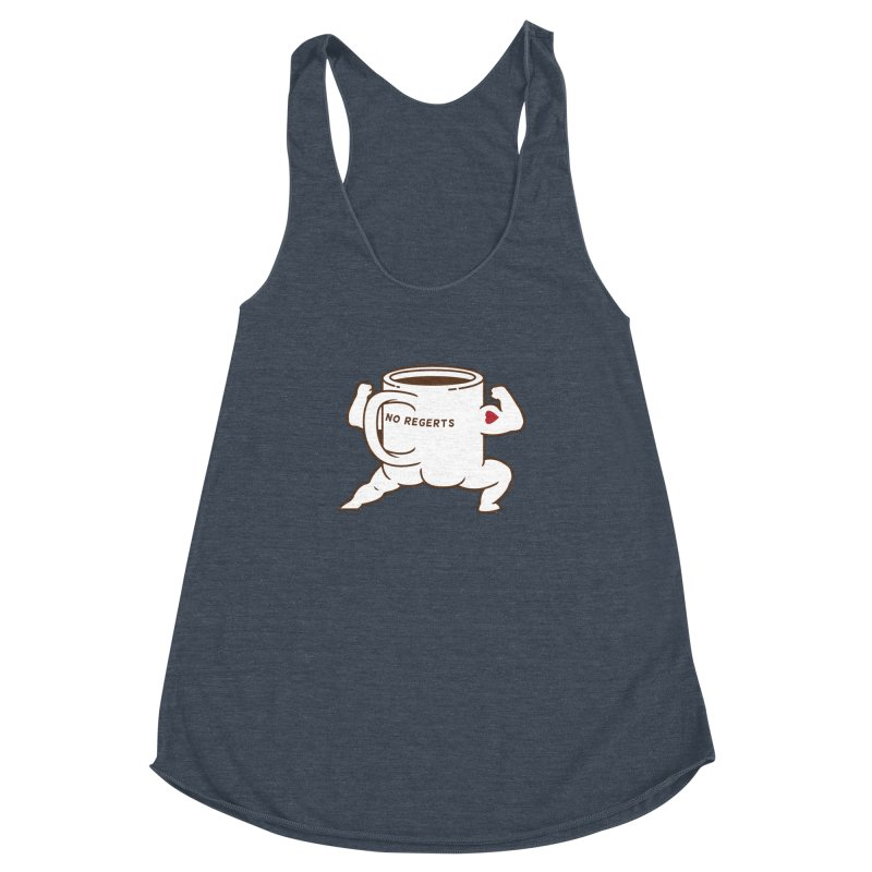 Strong Coffee Women's Racerback Triblend Tank by Pigboom's Artist Shop