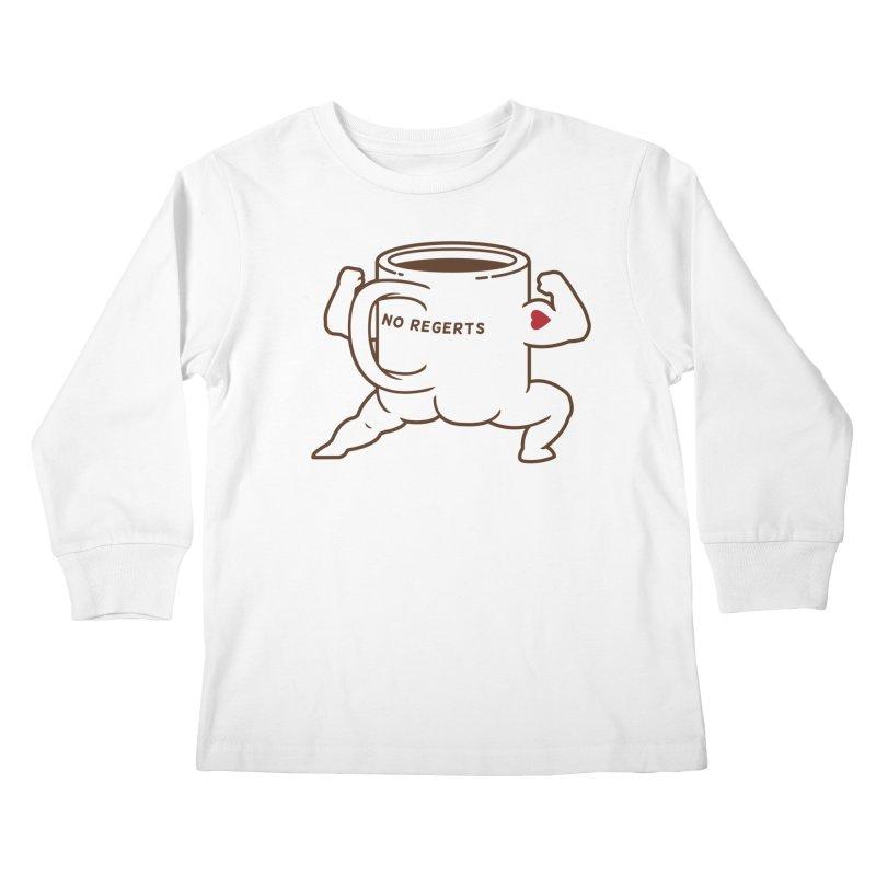 Strong Coffee Kids Longsleeve T-Shirt by Pigboom's Artist Shop