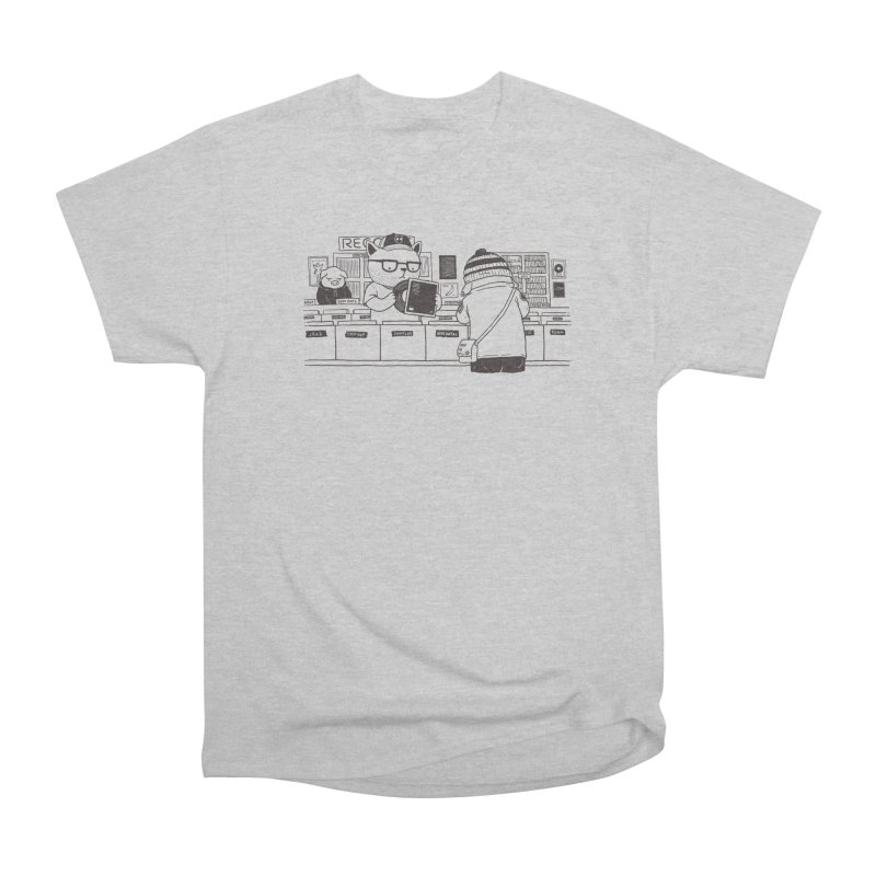 At the Record Store Women's Heavyweight Unisex T-Shirt by Pigboom's Artist Shop