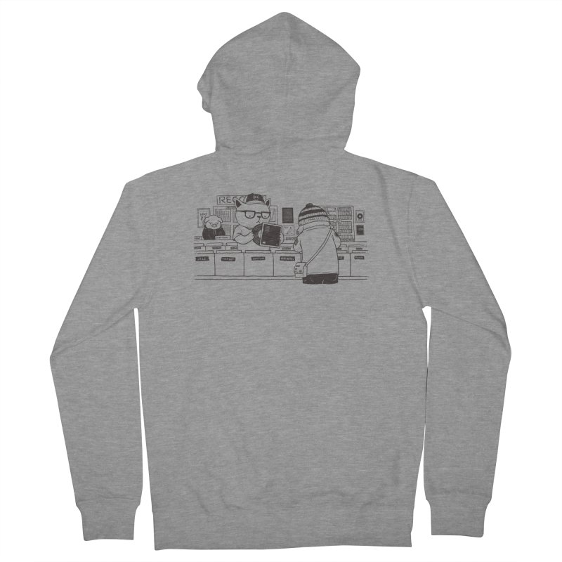 At the Record Store Men's Zip-Up Hoody by Pigboom's Artist Shop