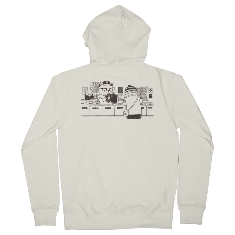 At the Record Store Men's French Terry Zip-Up Hoody by Pigboom's Artist Shop