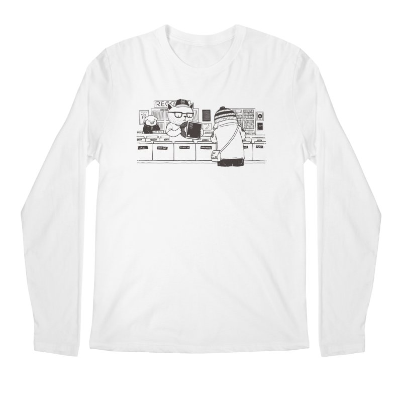 At the Record Store Men's Longsleeve T-Shirt by Pigboom's Artist Shop