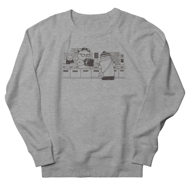 At the Record Store Men's French Terry Sweatshirt by Pigboom's Artist Shop