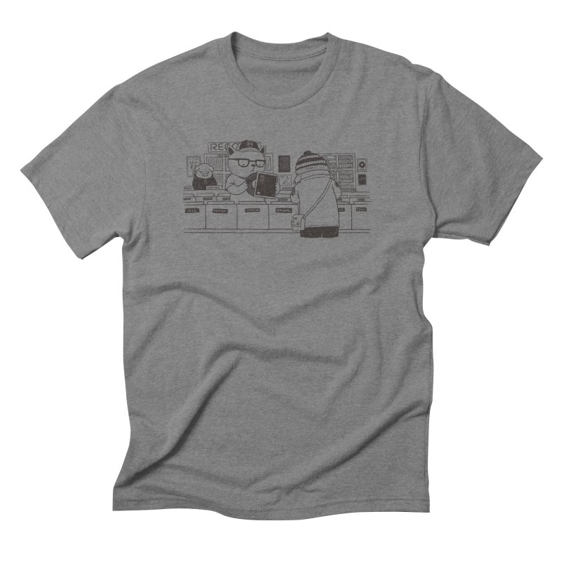At the Record Store Men's Triblend T-Shirt by Pigboom's Artist Shop