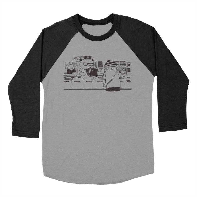 At the Record Store Men's Baseball Triblend T-Shirt by Pigboom's Artist Shop