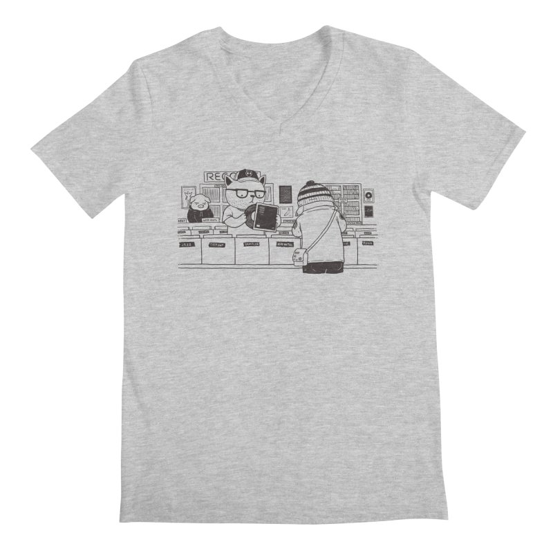 At the Record Store Men's V-Neck by Pigboom's Artist Shop