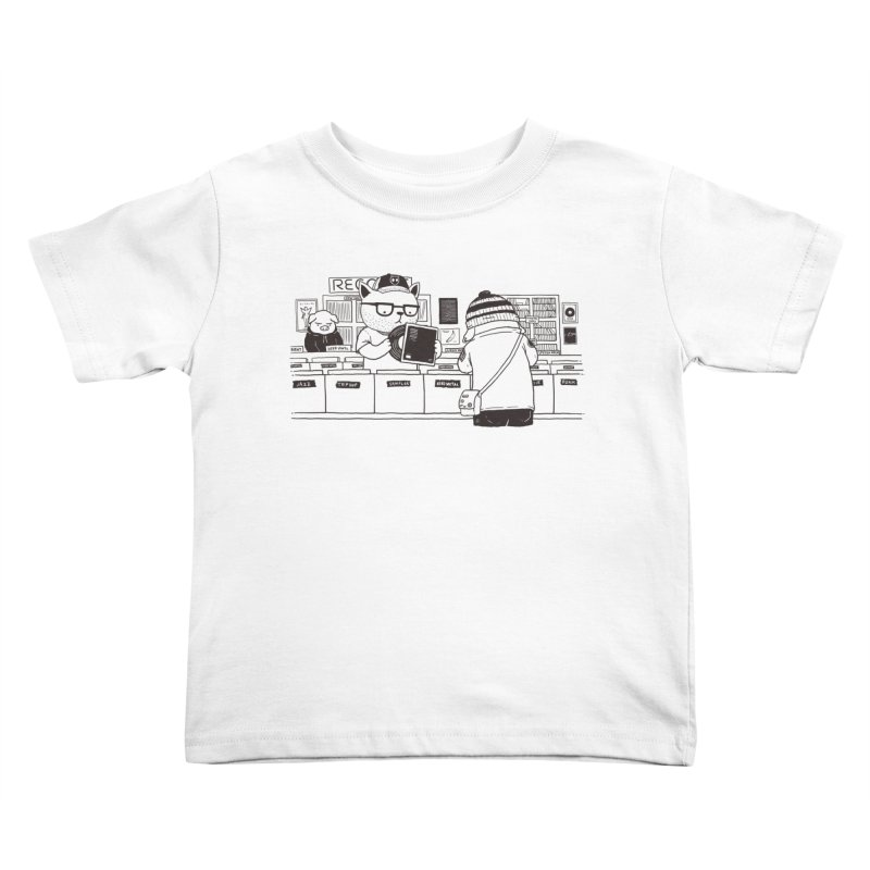 At the Record Store Kids Toddler T-Shirt by Pigboom's Artist Shop