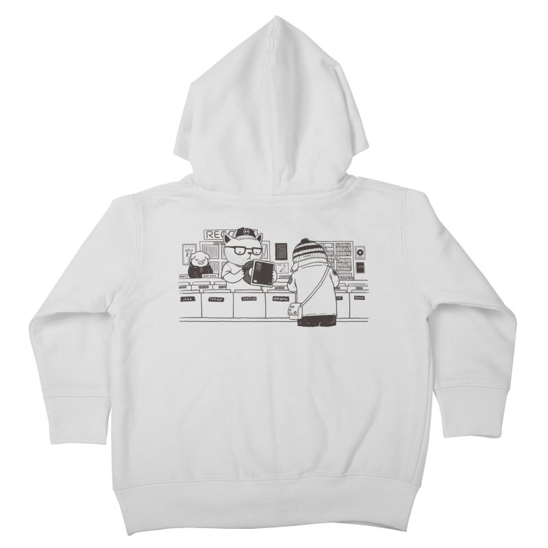 At the Record Store Kids Toddler Zip-Up Hoody by Pigboom's Artist Shop