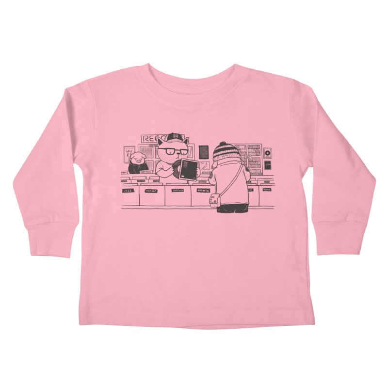At the Record Store Kids Toddler Longsleeve T-Shirt by Pigboom's Artist Shop