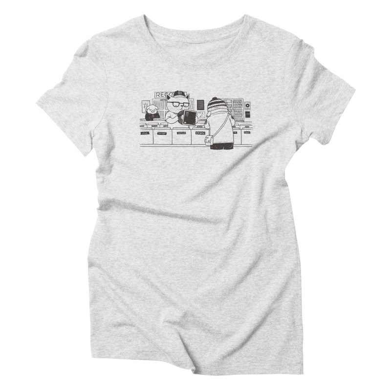 At the Record Store Women's Triblend T-Shirt by Pigboom's Artist Shop