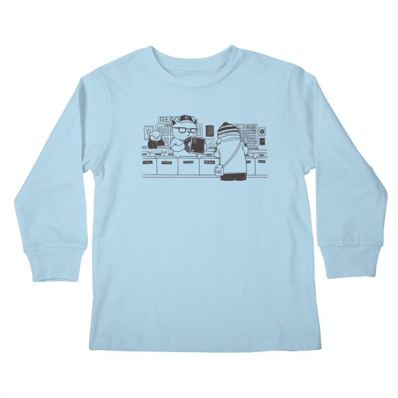 At the Record Store Kids Longsleeve T-Shirt by Pigboom's Artist Shop