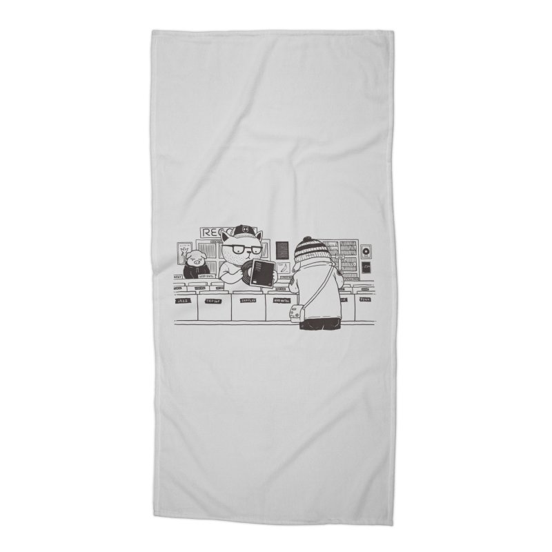At the Record Store Accessories Beach Towel by Pigboom's Artist Shop