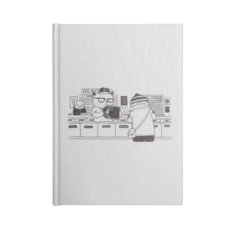 At the Record Store Accessories Notebook by Pigboom's Artist Shop