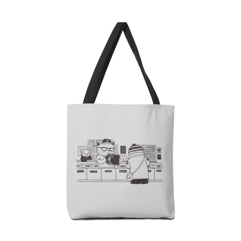 At the Record Store Accessories Bag by Pigboom's Artist Shop