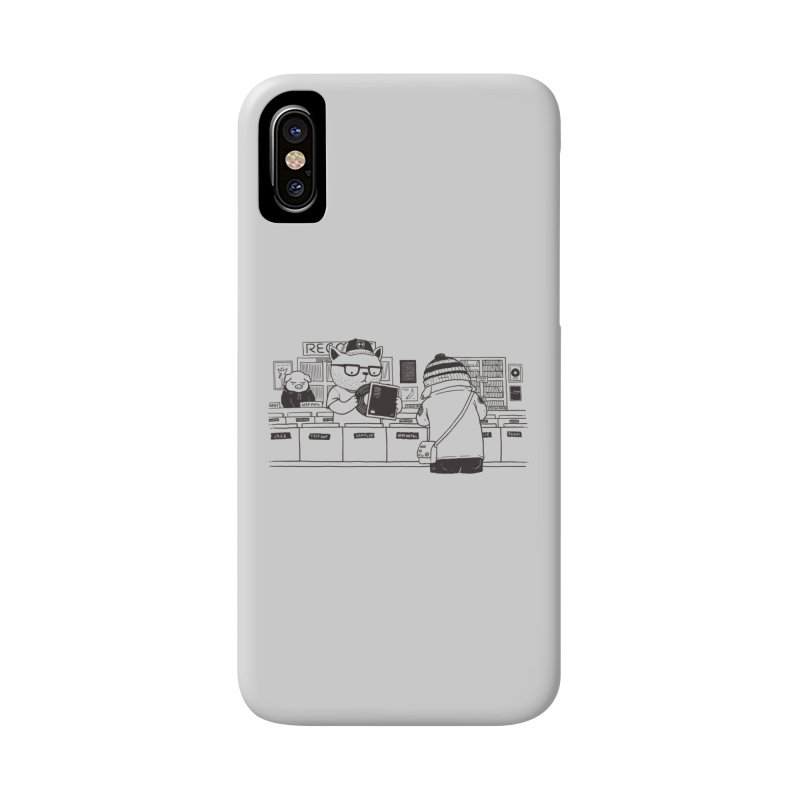 At the Record Store Accessories Phone Case by Pigboom's Artist Shop