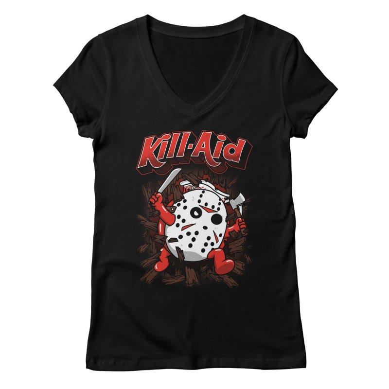 Kill-Aid Rotten Strawberry Flavor Women's Regular V-Neck by Pigboom's Artist Shop